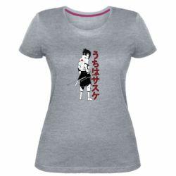 Жіноча стрейчева футболка Sasuke Art