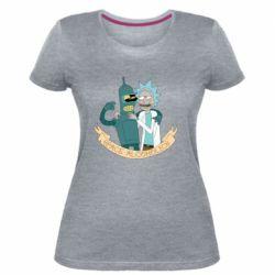 Жіноча стрейчева футболка Space alcoholics