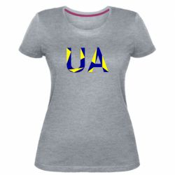 Женская стрейчевая футболка UA Ukraine