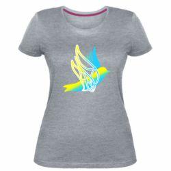 Жіноча стрейчева футболка Україна Ластівка