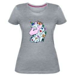 Жіноча стрейчева футболка Unicorn Princess