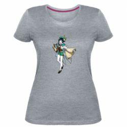 Жіноча стрейчева футболка Venti Genshin Impact