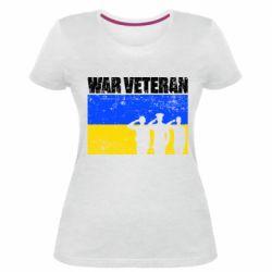Жіноча стрейчева футболка War veteran