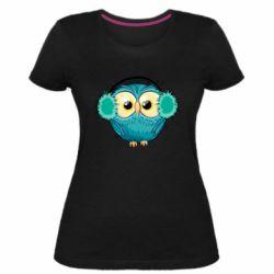 Женская стрейчевая футболка Winter owl