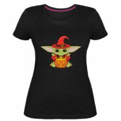 Жіноча стрейчева футболка Yoda conjures