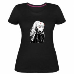 Жіноча стрейчева футболка Zero Two Art