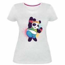 Жіноча стрейчева футболка Zumba Panda