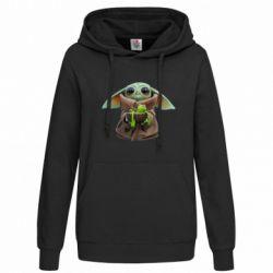 Толстовка жіноча Grogu and Kermit