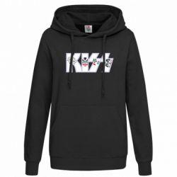 Толстовка жіноча Kiss the music band