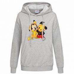 Женская толстовка Mickey and Pikachu