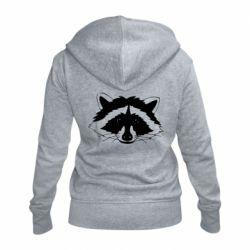 Жіноча толстовка на блискавці Cute raccoon face