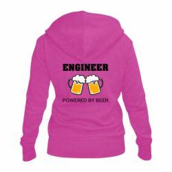 Жіноча толстовка на блискавці Engineer Powered By Beer