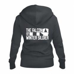 Жіноча толстовка на блискавці Falcon and winter soldier logo