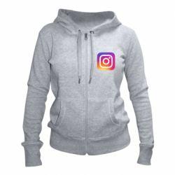 Жіноча толстовка на блискавці Instagram Logo Gradient