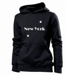 Женская толстовка New York and stars