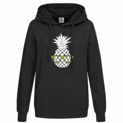 Женская толстовка Pineapple with glasses
