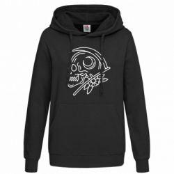 Толстовка жіноча Skull with scythe