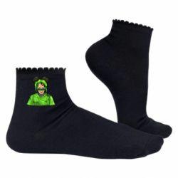 Жіночі шкарпетки Billie Eilish green style