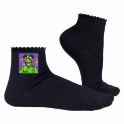 Жіночі шкарпетки Billy Eilish on purple background