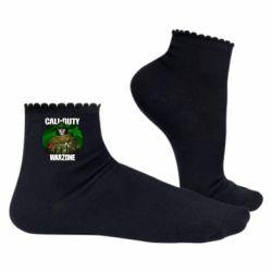 Жіночі шкарпетки Call of duty Warzone ghost green background