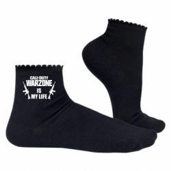 Жіночі шкарпетки Call of duty warzone is my life M4A1