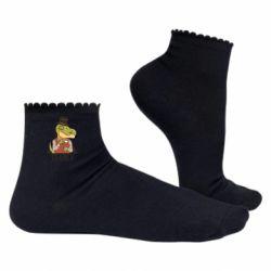 Жіночі шкарпетки Dinosaur with tea