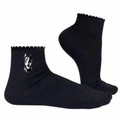Жіночі шкарпетки Доберман чорний