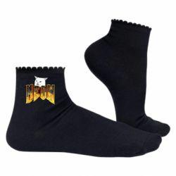 Жіночі шкарпетки Doom меов cat