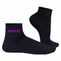 Жіночі шкарпетки Fortnite purple logo text