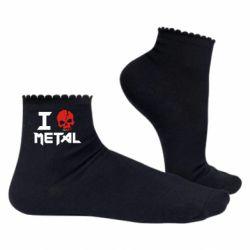 Женские носки I love metal