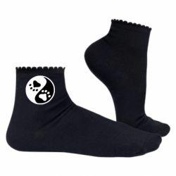 Жіночі шкарпетки інь янь лапки