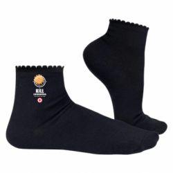 Жіночі шкарпетки Kill coronavirus the doctor will help