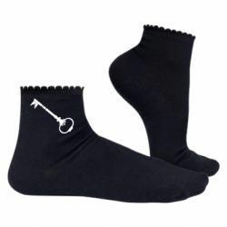 Женские носки Ключ к сердцу