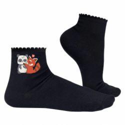 Жіночі шкарпетки Panda and fire panda