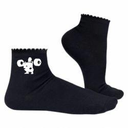 Жіночі шкарпетки Присідання зі штангою
