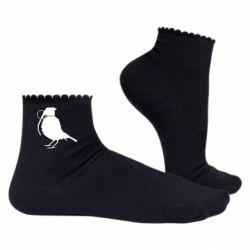 Женские носки Птичка с гранатой