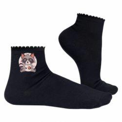 Жіночі шкарпетки Raccoon with cookies