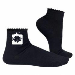 Жіночі шкарпетки Риба на гачку