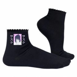 Жіночі шкарпетки Saske Naruto and hieroglyphs