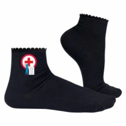 Жіночі шкарпетки Stop virus and doctor