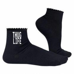 Жіночі шкарпетки thug life