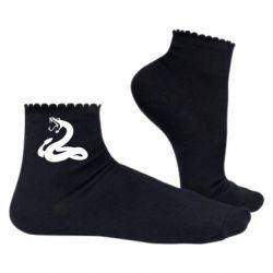 Женские носки Змея