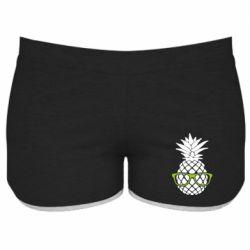 Женские шорты Pineapple with glasses