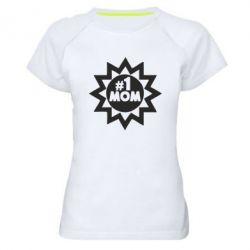 Женская спортивная футболка # 1 MOM - FatLine