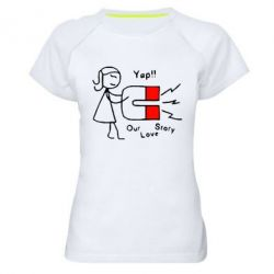 Купить Женская спортивная футболка 2302Our love story2, FatLine