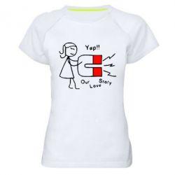 Женская спортивная футболка 2302Our love story2 - FatLine