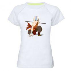 Жіноча спортивна футболка Аанг
