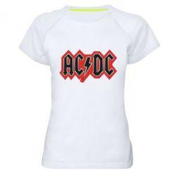 Женская спортивная футболка AC/DC Vintage - FatLine