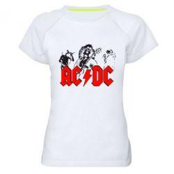 Женская спортивная футболка AC DC - FatLine