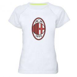 Женская спортивная футболка AC Milan - FatLine